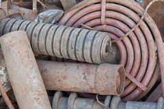 Stack of rusted pipes Stock Image