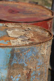 Stack of rusting barrels Royalty Free Stock Images