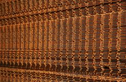 Stack of rusty construction steel mats Royalty Free Stock Photography