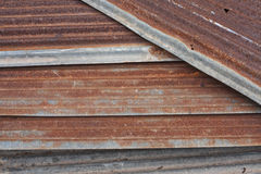 Stack of rusty corrugated iron metal Royalty Free Stock Images