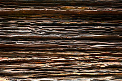 Stack of rusty iron plate Royalty Free Stock Photo
