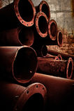 Stack of Rusty pipes Royalty Free Stock Image