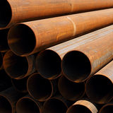 Stack of rusty pipes Royalty Free Stock Photography