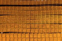 Stack of rusty reinforcing mesh stock photo