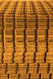 Stack of rusty reinforcing mesh. royalty free stock photos