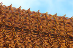 Stack of rusty steel mats, pattern Stock Photo