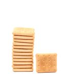 Stack of saltine soda crackers Royalty Free Stock Photography