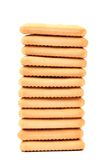 Stack of saltine soda crackers Stock Photos