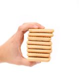 Stack of saltine soda crackers. Stock Photography