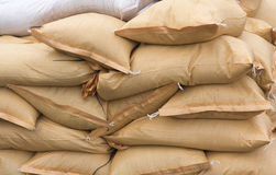 Stack of sandbags Royalty Free Stock Photography