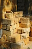 Stack of sandstone brick royalty free stock image