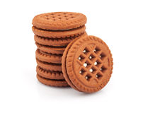 Stack of sandwich cookies Royalty Free Stock Image