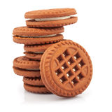 Stack of sandwich cookies Royalty Free Stock Photos