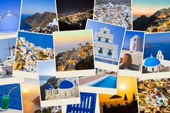 Stack of Santorini photos Stock Photos