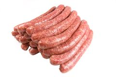 Stack of sausages.  Royalty Free Stock Photography