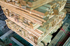 Stack of sawn timber Royalty Free Stock Photography