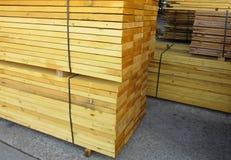 Stack of sawn timber royalty free stock photos