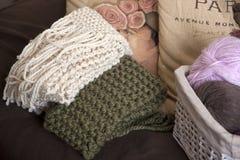 stack scarves Royaltyfri Fotografi