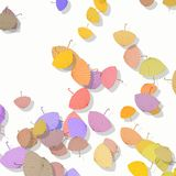Stack of scattered colored parasols Royalty Free Stock Photos