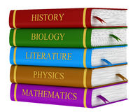 A stack of school books Stock Photography