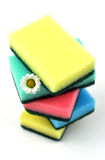 Stack of Scouring Pads Royalty Free Stock Images
