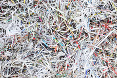 Stack of scrap paper from paper cutter for background Royalty Free Stock Image