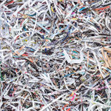 Stack of scrap paper from paper cutter for background Stock Images