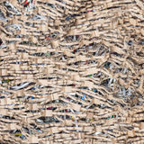 Stack of scrap paper from paper cutter for background Royalty Free Stock Photo