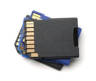 Stack of SD memory cards Stock Images