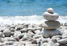 Stack sea pebbles Stock Photos