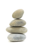 Stack sea pebbles against a white background Stock Photography