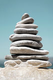 Stack of Sea Pebbles Royalty Free Stock Photo