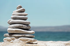 Stack of Sea Pebbles Stock Photography