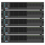 Stack of servers illustration Royalty Free Stock Image