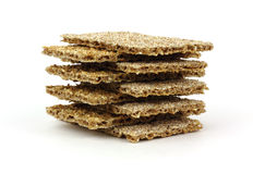 Stack Sesame and Rye Crackers Royalty Free Stock Photo