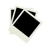 Stack of several blank polaroid photo shots Stock Photo