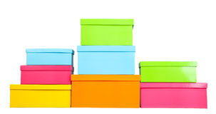 Stack of several boxes Royalty Free Stock Photography