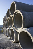 A Stack of Sewer Conduit Stock Photos