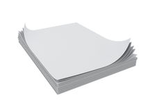 Stack of sheets Royalty Free Stock Photos