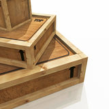 Stack of Shipping Crates Royalty Free Stock Photos