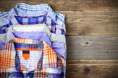 Stack of shirts Royalty Free Stock Photography
