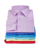 Stack of shirts Royalty Free Stock Photo