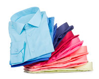 Stack of shirts Stock Photos
