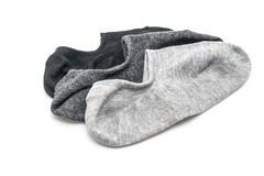 stack of short socks Royalty Free Stock Image
