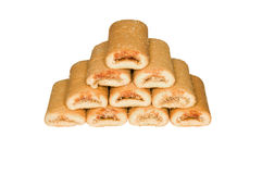 Stack of shortbread biscuits Stock Photo
