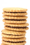 Stack of shortbread butter biscuits Stock Photography