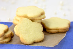Stack of shortbread cookies Royalty Free Stock Photo