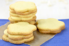 Stack of shortbread cookies Royalty Free Stock Photography