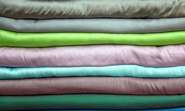Stack of silk Stock Images