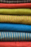 Stack of silk fabrics Stock Photography